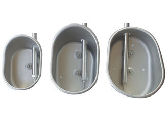 Round / Oval Pig Drinking Bowl 304 Stainless Steel Corrosion Resistance