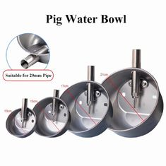 Four Sizes Livestock Water Bowl , Pig Feeding Equipment With Stainless Nipple Drinker