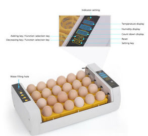 Industrial Auto 96 Egg Incubator Easy Cleaning With Electronic Thermostat