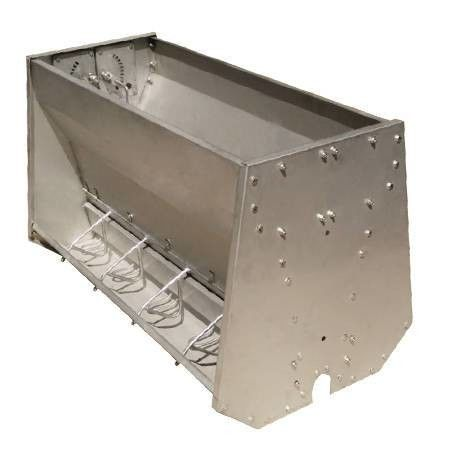 Stainless Steel Double Sided Pig Feeding Trough , Pig Water Trough